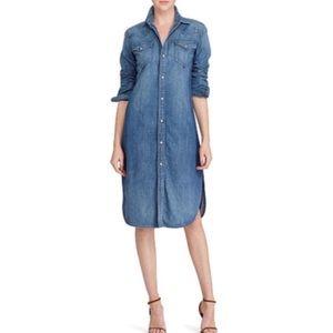 ac0b03ccf9f Ralph Lauren Dresses - Ralph Lauren Denim Button Down Shirt Dress